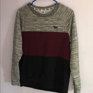 PINK Color Block Crew Neck Sweatshirt